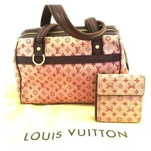 💜 SALE 💜 LV Mini Lin Canvas Bag & Wallet